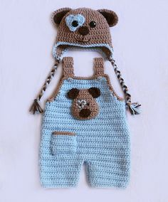 Puppy Love Hat Set  Baby Overalls  Newborn Dungarees  by dsgnGrl