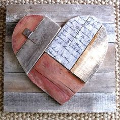Rustic pallet wood valentine's heart, by Scavenger Chic, featured on Funky Junk Interiors