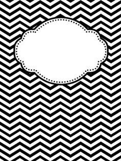 6 Best Images of Cute Printable Binder Covers Black And White - Black and White Chevron Binder Covers, Black and White Printable Binder Covers and My Cute Binder Covers Chevron Binder Covers, Cute Binder Covers, Binder Cover Templates, Classroom Organization, Organizing Ideas, Organization Hacks, Getting Organized, School Supplies, Binder Covers
