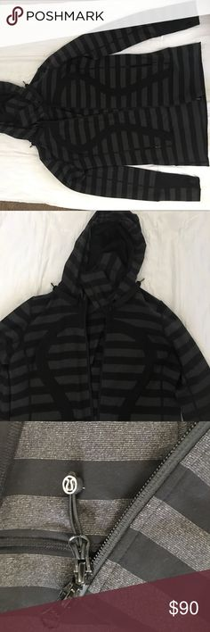 Like New Lululemon hoodie jacket Like new strip hoodie jacket lululemon athletica Jackets & Coats