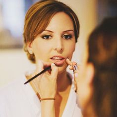 One of us in action doing make up on a bridesmaid. #bridalideas #eyes d #mua #beauty #bbloggers #bblogger #weddingmakeup #wedding #weddingfair2015 #weddingmua