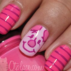 Piglet nail art tutorial | Qtplace