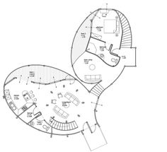 bamboo houses shape ibuku's green village community in indonesia | example villa 1 : floor plan / level 1
