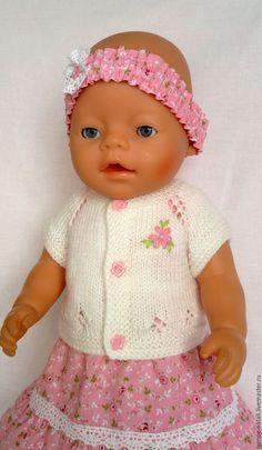 Купить Платье с кофточкой и обувью для беби бон - розовый, одежда для беби бон