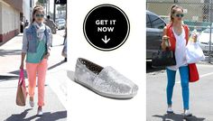 Jessica Alba's Idea Of Bling Is $53 Glitter TOMS (And That's Why We Love Her)