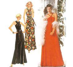 1970s Evening Dress Disco Dress Pattern Burda by willynillyart