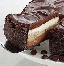 Recipe For  Triple Layer GODIVA Dream Cheesecake