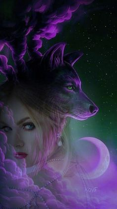 Love the purple. Also Saved by Celtic 🐉 Dragon. Wolf Images, Wolf Pictures, Wolves And Women, Wolf Artwork, Werewolf Art, Fantasy Wolf, Wolf Spirit Animal, Image Blog, Wolf Wallpaper