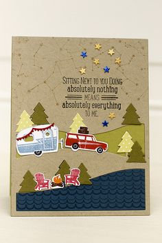 Happy Camper Card by Erin Lincoln for Papertrey Ink (August 2015)