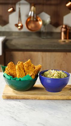 Recipe with video instructions: Elevate your average nugget game with fried-to-perfection Doritos-crusted chicken strips with a side of guac. Crusted Chicken, Breaded Chicken, Chicken Nuggets, Good Food, Yummy Food, Doritos, Miniature Food, Food Videos, Food Processor Recipes