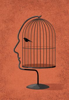 free your potential By John Holcroft Illustrator Conceptual illustrator. This was a self promotional image about how having low self esteem and little confidence can be debilitating and will hold you back from filling your true potential. Social Media Art, Satirical Illustrations, Conceptual Drawing, Posca Art, Visual Metaphor, Psychedelic Art, Grafik Design, Art Photography, Glamour Photography
