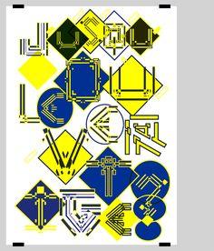 Image 1 Typography Art, Lettering, Alphabet City, Kids Rugs, Graphic Design, Pattern, Image, Inspiration, Vertigo