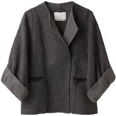 3.1 Phillip Lim Kimono Sleeve Jacket ($348) ❤ liked on Polyvore