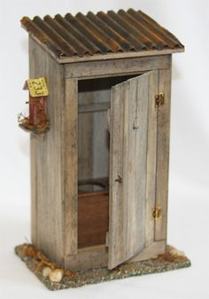 Miniature outhouse, miniature woodworking, (he would make this just on craft wood designs, craft shed designs, craft room designs, craft bar designs, craft boat designs, craft home designs, craft store designs, craft office designs,