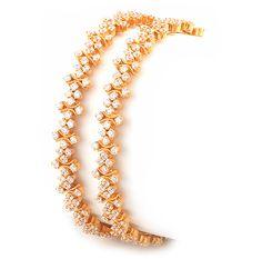 Diamond bangle India Jewelry, Gold Jewelry, Jewelery, Cz Jewellery, Gold Bangles, Bangle Bracelets, Gold Ring, Diamond Bangle, Diamond Jewelry