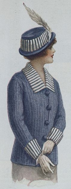 Sweater coat with matching hat c1914