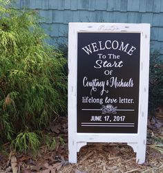 A personal favorite from my Etsy shop https://www.etsy.com/listing/479947144/framed-chalkboard-wedding-signs-rustic