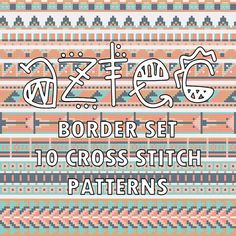 Hem Embroidery Chart PDF Download Historic Folk Border Series Beginner Pattern Southwest Embroidery Boho Ornament Embroidery Traditional Art by Stitchonomy