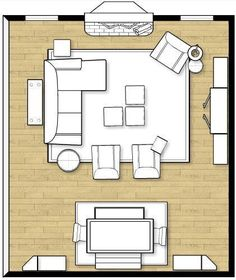 This is very close to the layout in the new living room in terms of the fireplace wall and the electronics wall (not the table). However it is narrower--the couch with full-length table or shelf behind would be against the wall. (Julie-P-layout-revised) Living Room Arrangements, Living Room Furniture Arrangement, Family Furniture, Furniture Sets, Mirror Furniture, Living Room Furniture Layout, Modular Furniture, Furniture Showroom, Furniture Dolly