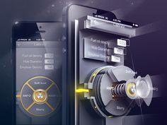 UI of engineering app by Sergey Valiukh, via Behance