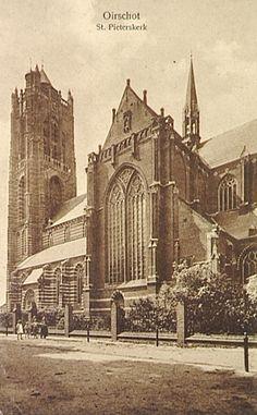 Zuidzijde van de St. Petruskerk - 1930