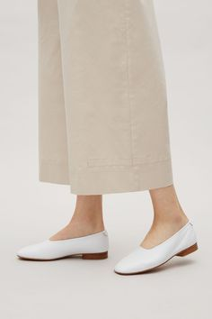 COS image 4 of Square-toe slip-on shoes in White Simple Aesthetic, Kurta Designs Women, Shoe Boots, Shoe Bag, Shoe Collection, Cos, Slip On Shoes, Heeled Mules, Footwear