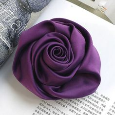satin rose fabric flower