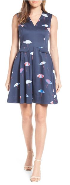 Cute umbrella print dress