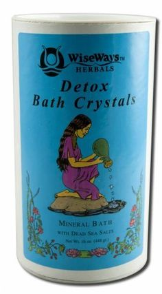 WiseWays Herbals Detox Bath Crystals 16 oz. by Wise Ways Herbals. $10.88. 16 Ounces Granule. Serving Size:. A Rejuvenating and Cleansing BathThe ocean, mineral and hot springs baths have been used for centuries world wide, for their therapeutic effects. In spas and healing centers today, the use of water therapy is popular once again. Bathing in these healing waters helps to release toxins, promote energy, circulation and well being. DETOX Bath is a unique blen...