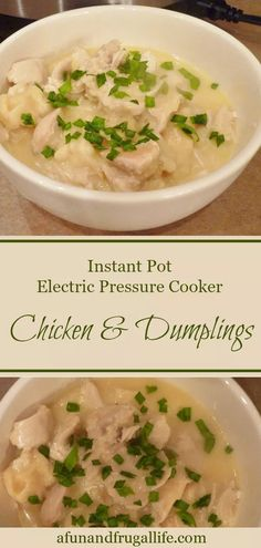 chicken dumplings crock pot Chicken and Dumplings is the ultimate comfort food. Now you can make it in no time at all in your Instant Pot or electric pressure cooker. Pressure Cooker Chicken, Instant Pot Pressure Cooker, Food Dishes, Main Dishes, Side Dishes, Crockpot Chicken And Dumplings, Pressure Cooking Recipes, Electric Pressure Cooker, Food Preparation