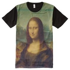 The Mona Lisa By Leonardo Da Vinci All-Over-Print Shirt - click/tap to personalize and buy