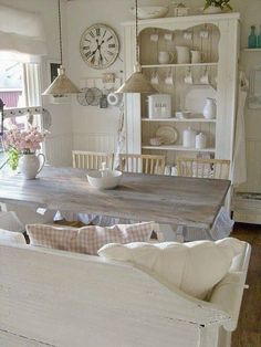 Sala da pranzo shabby-chic, adorabile! www.shab.it