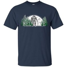 Bigfoot Sasquatch T-Shirt Finding Bigfoot T-Shirt - Sasquatch Shirt - Bigfoot Shirt   Bigfoot Sasquatch - Believe. This Bigfoot Tee Shirt is sure to get noticed. Sasquatch Shirt - For those who believe in Bigfoot. Finding Bigfoot T-Shirt for bigfoot believers. Bigfoot Sasquatch T-Shirt for kids, men and women. Believe. Finding Bigfoot T-Shirt is a great gift for birthday and Christmas gift ideas. If you believe in Bigfoot this is the perfect Sasquatch shirt for you. Please refer to sizing…