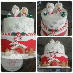 Christmas cake by dulce arte cakes