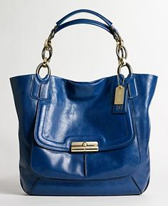 Blue Coach bag. I saw this last week and about peed my pants. ,COACH KRISTIN ELEVATED LEATHER SAGE ROUND SATCHEL
