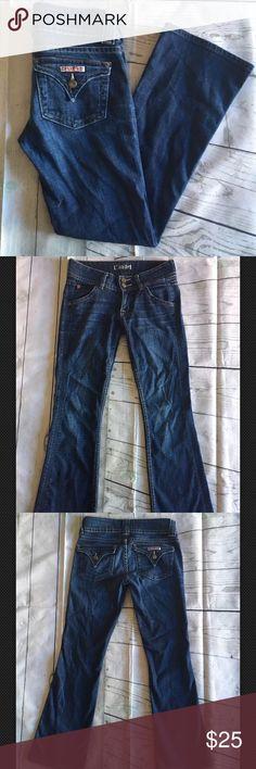 Sale‼️Hudson Signature Boot Cut Jeans Sz 2S Hudson Signature Women's Distressed Boot Cut Triangle Flap Pockets Jeans Sz 2S. Excellent condition Hudson Jeans Jeans Boot Cut