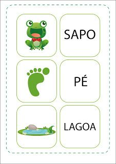 Notebook da Profª: Projeto O Sapo Material Didático, Free Books, Literacy, Preschool, Notebook, 1, Sight Word Activities, Kids Learning Activities, Reading Projects