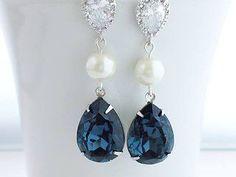 Purple Swarovski Earrings, Heliotrope Crystal, Cubic Zirconia Post Earrings - Beach Wedding Jewelry