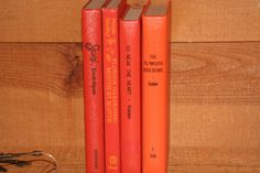A Vintage Orange Instant Libray  4 Books by RiverOfTimeTreasures, $20.00