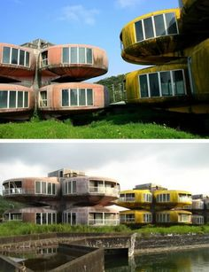 Sanzhi Pod House (Taiwan): This abandoned futuristic luxury vacation spot remains a complete mystery to locals and tourists alike. There are several stories surrounding the circumstances that led up to its abandonment, but no one seems to know exactly why or how the site fell into such a state of disrepair.