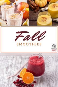 Smoothies that taste like fall. Looking for a delicious recipe to have a sweet treat this fall? Check out these recipes and have a sweet snack now.   The Produce Moms Yummy Smoothie Recipes, Easy Drink Recipes, Easy Healthy Recipes, Fall Recipes, Eat Healthy, Low Calorie Drinks, Diet Drinks, Yummy Drinks, Cold Drinks