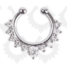 Unisex Punk não Piercing falso anel de nariz Hoop 18 k ouro do falso Piercing septo 16 g Piercing em Jóias para corpo de Jóias no AliExpress.com | Alibaba Group