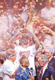The man, LeBron James holds up NBA Finals Trophy! #NBAFINALS MVP