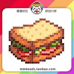 Photo from mmbeads_china Minecraft Pattern, Pixel Pattern, Minecraft Pixel Art, Perler Bead Templates, Perler Patterns, Faire Du Pixel Art, Cross Stitch Designs, Stitch Patterns, Kawaii Cross Stitch