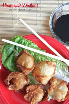 Homemade Wontons - easier to make than you might think and so delish!