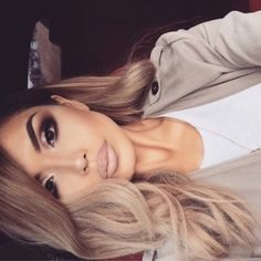 smokey eye makeup, mauve lips