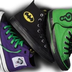 Batman, Joker, and Riddler Converse Nike Outfits, Cool Outfits, New York Fashion, Teen Fashion, Fashion Trends, Joker And Harley, Harley Quinn, Cute Shoes, Me Too Shoes