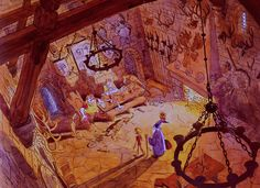 Ken Anderson was was an artist who enjoyed exploring environments as well as characters for Disney films. In his days that was somewh. Animation Disney, Animation Film, Animation Storyboard, Animation Character, Animation Background, Art Background, Ghibli, Walt Disney, Ken Anderson