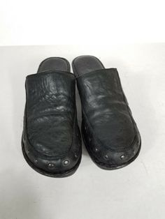 Comfort Shoes · Born Black Leather Handmade Slip On Mules Size 10  EUR 42   fashion  clothing ccc406097
