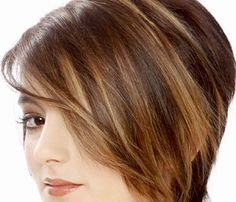 Dark Brown Lowlights And Highlight Hair Color With Side